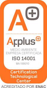 Empresa Certificada Medio Ambiente ISO 14001